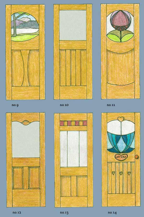 drawing of a bespoke door