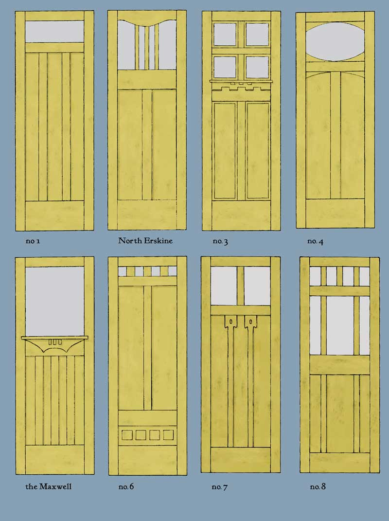 drawing of a handmade door
